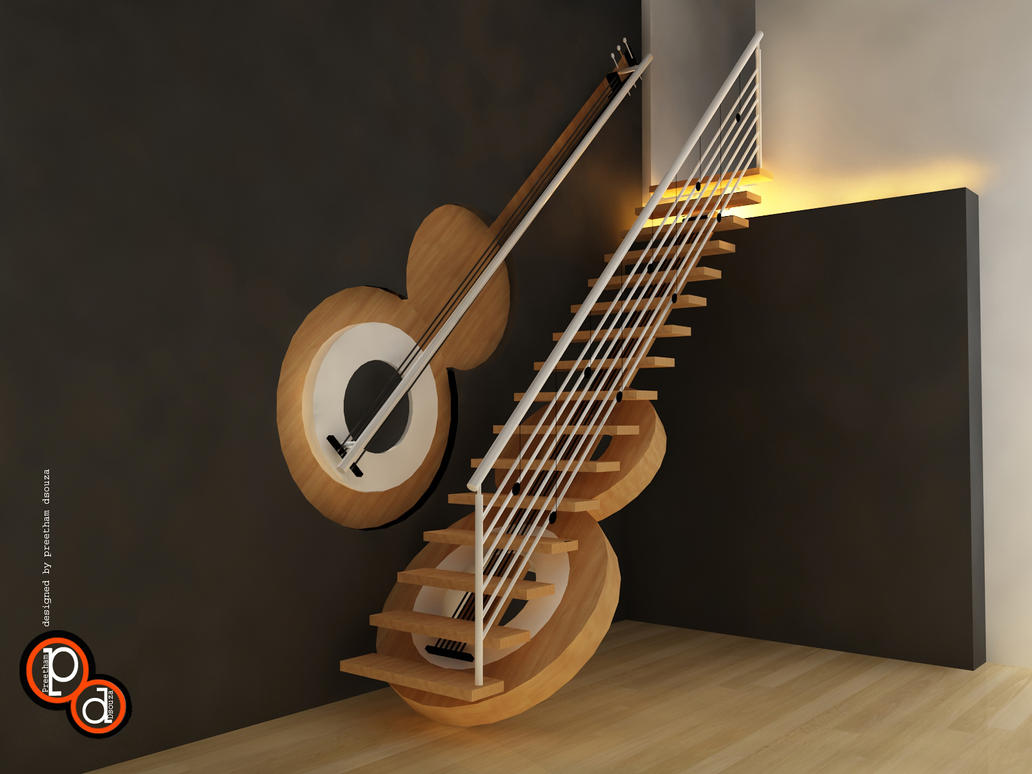 Staircase design- concept guitar by creativegenie
