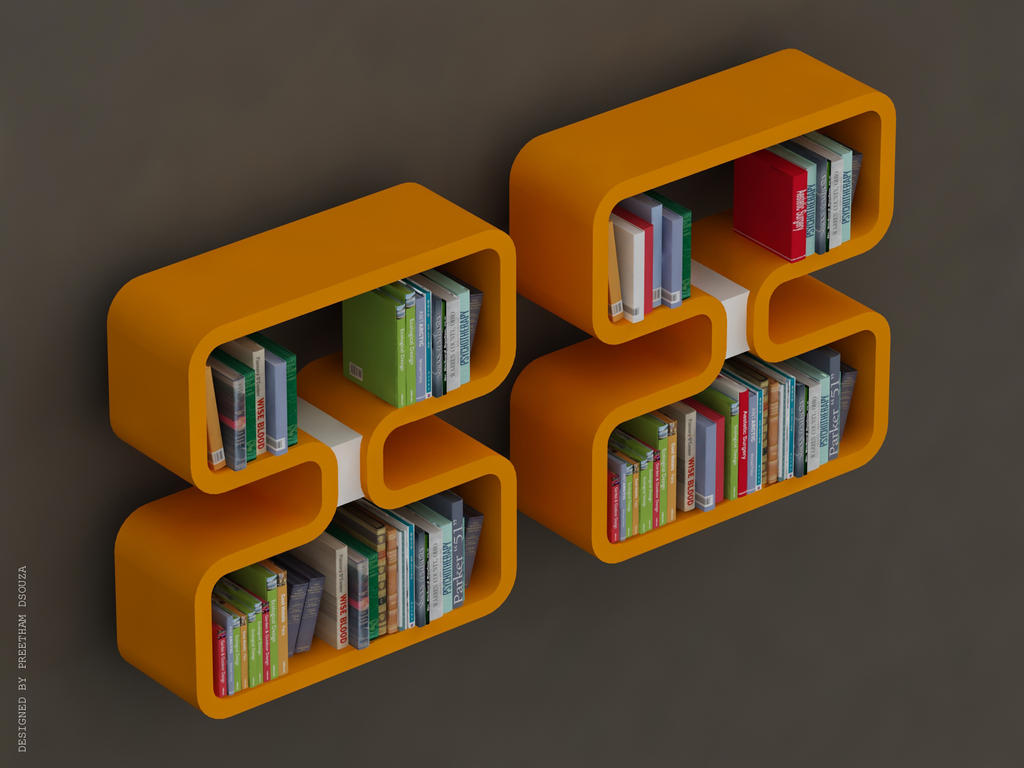 Double 8 Bookshelves -Yellow by creativegenie