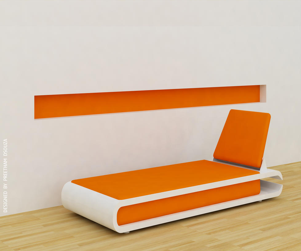 Nailcutter couch -Orange by creativegenie