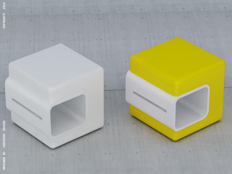 Box stool by creativegenie