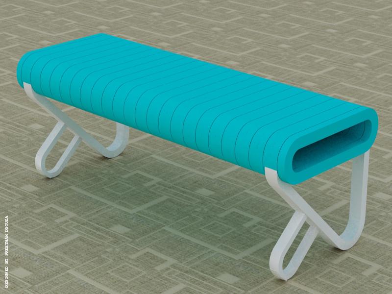 Bench aquamarine