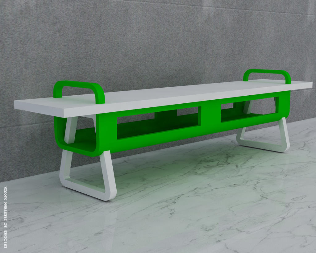 Rectangular Bench Green