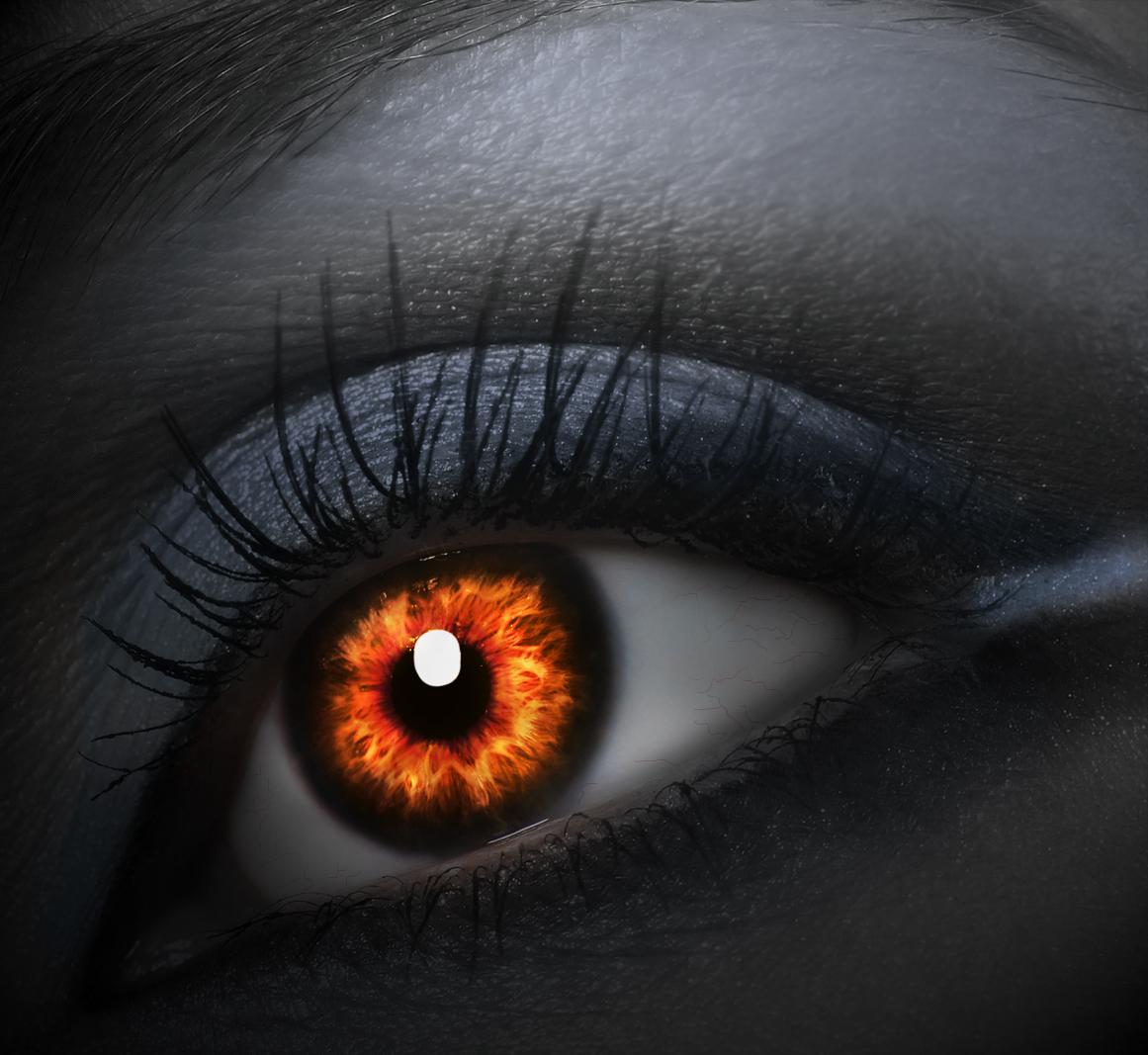 Как сделать себе чёрные глаза в жизни 586