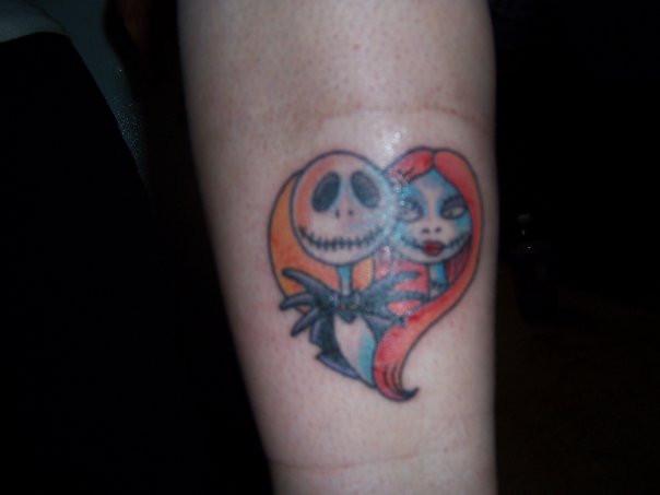 Jack And Sally Tattoo By BrokenValentine14 On DeviantArt