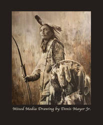 Warrior Standing Proud and Tall, Oglala Sioux.