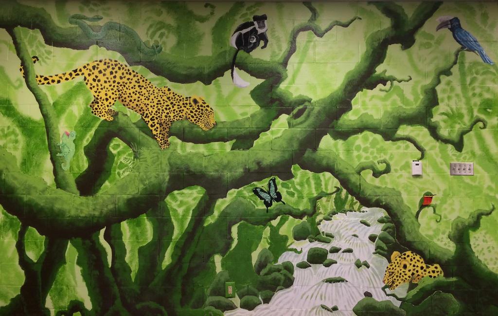 Jungle Mural Final Form by dragonsinger99