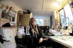 My studio in the garage
