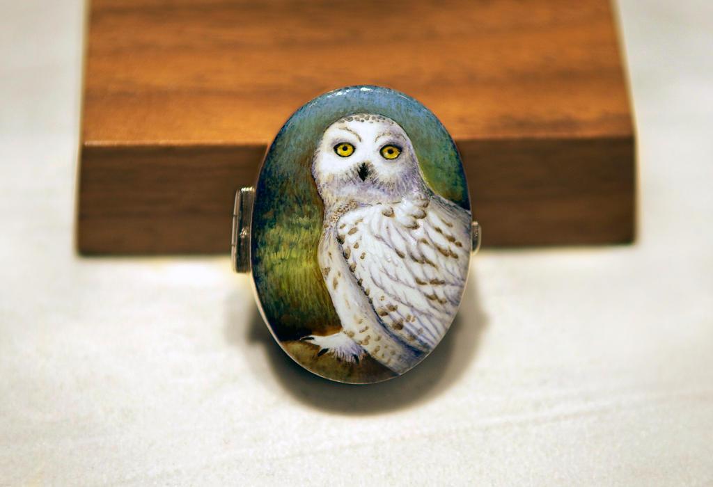 Snowy Owl silver box