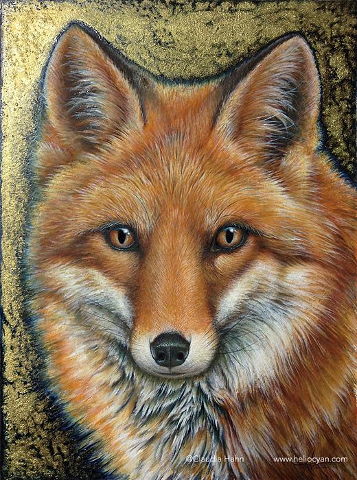 The golden fox by Heliocyan