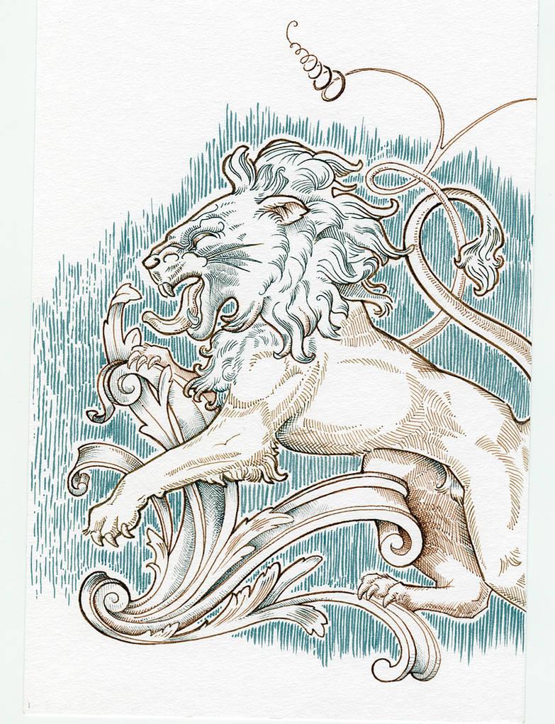 Trafalgar Square Lion for Inktober