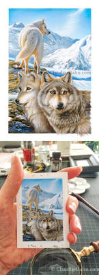 Wolves miniature painting