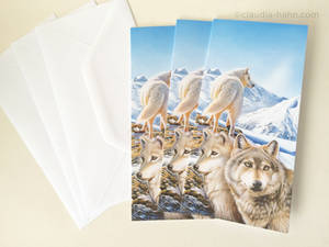 Wolves cards for Christmas!