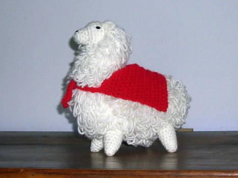 Supah Albino Llama!