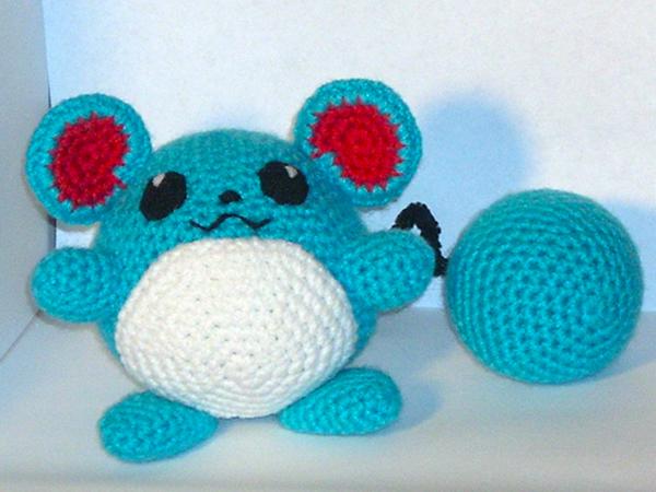 Amigurumi Pokemon pattern. Crochet pattern. Marill. Water pokemon ...   450x600