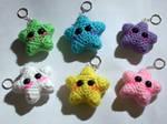 Kawaii Crochet Star Keychains -PATTERN AVAILABLE-