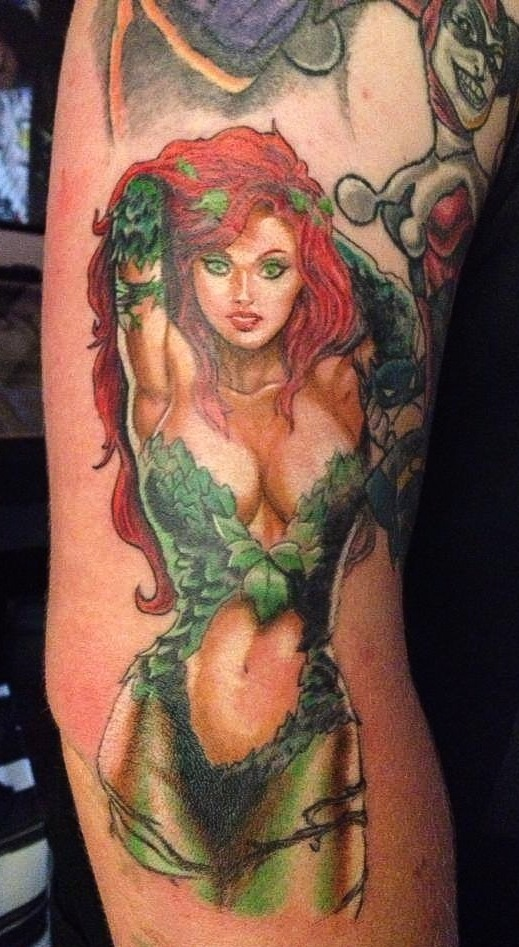 Poison Ivy Tattoo by BodyArtbyElf