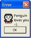 Penguin loves you popup by Milokata