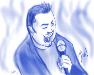 Blue Ink Portrait: Jim by inkjetcanvas
