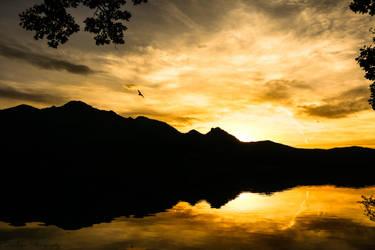 Sunset reflections by mydarkeyes