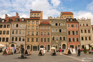 Old city center on Warsaw