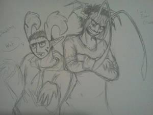 Bibelot: Esau and Banksy Sketch
