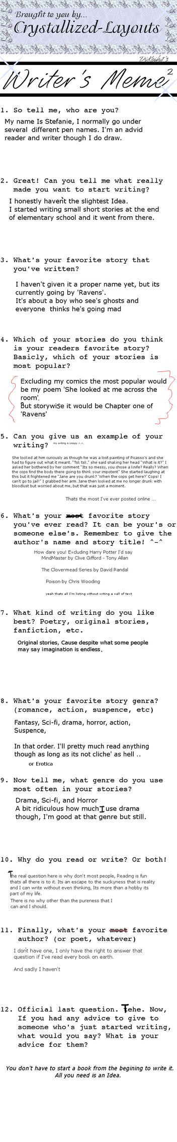 Writers Meme by hinata4312