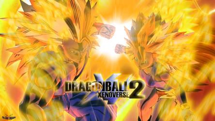 Dragon Ball XV2 SSJ3 Duo by DapzeroTRD