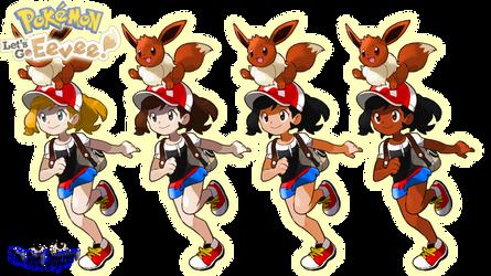 Pokemon Let's Go Eevee - Female TR Customization by DapzeroTRD