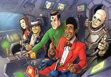 Red Dwarf Piece for Wales Comic Con by Drivaaar