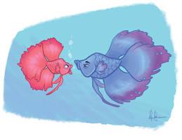 Betta fish  by Rey-Paez