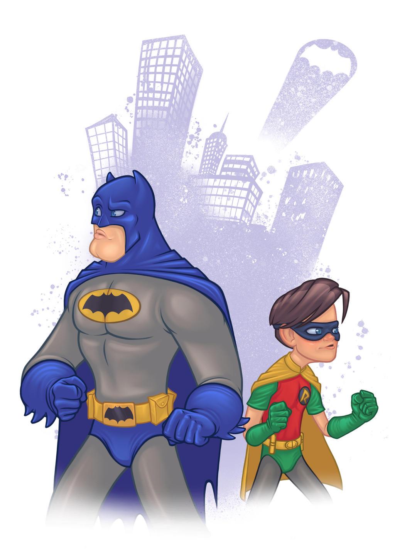 Batman and Robin by Rey-Paez