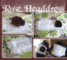 +Rose Rectangular Headdress+