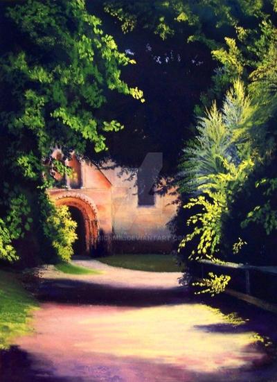 Brinkburn pathway by michmil