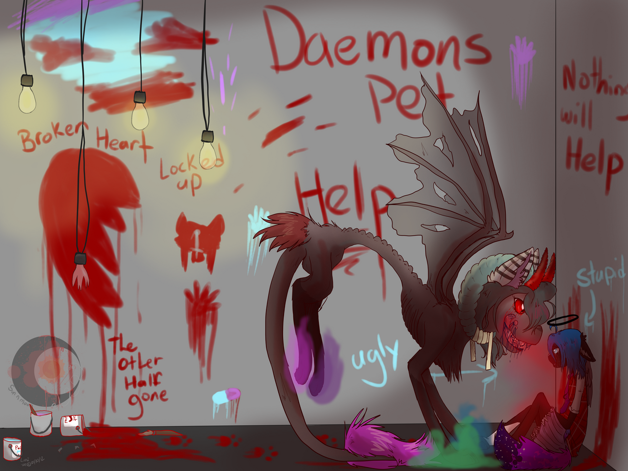 demon pet by Crazy-Luna