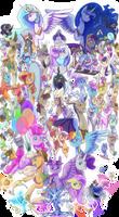 100 Ponies by Crazy-Luna