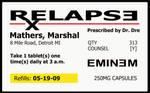 Eminem Relapse RX Label
