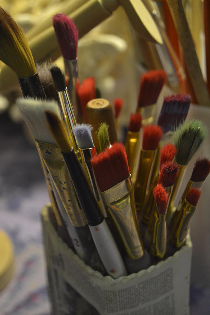 Nikon Paintbrushes by animerockerchick