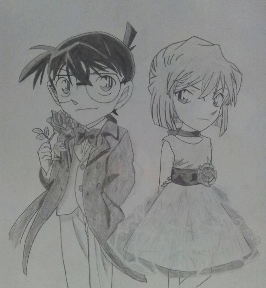 Conan Edogawa y Ai Haibara by Meiga92 on DeviantArt
