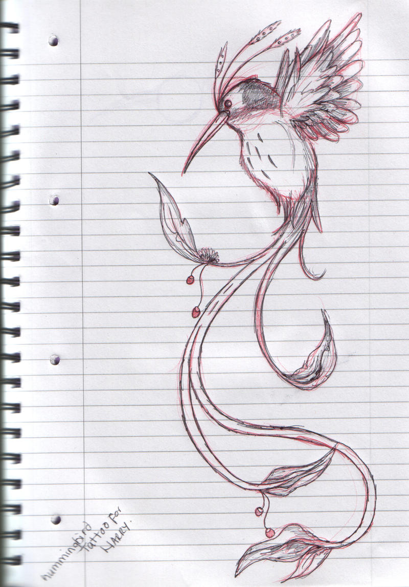 HummingBird Tattoo Design by