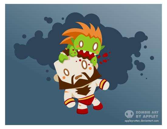 Zombie Blanka vs. Zangief by appleyrotten