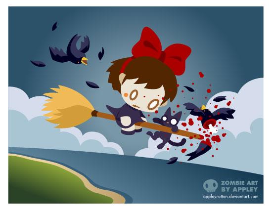Zombie Kiki by appleyrotten