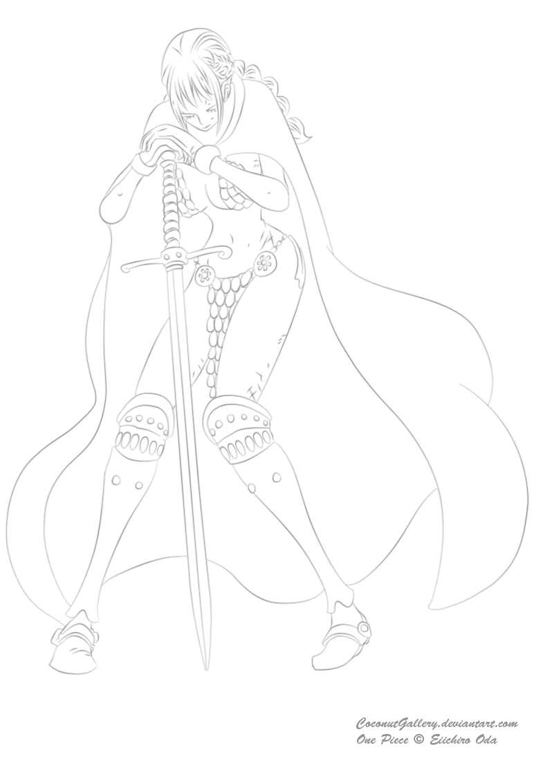 One Piece Lineart : One piece rebecca lineart by coconutgallery on