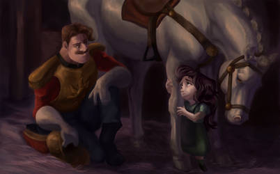 Brave Little Soldier {Tangled Fanart} by Silverhart-of-Eld