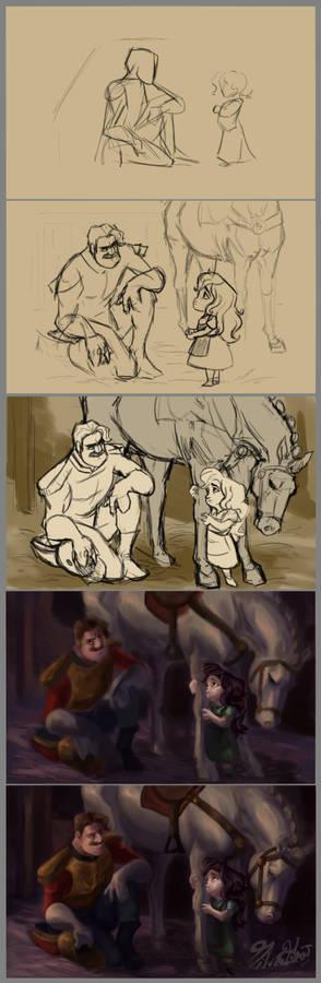 Brave Little Soilder Step by Step