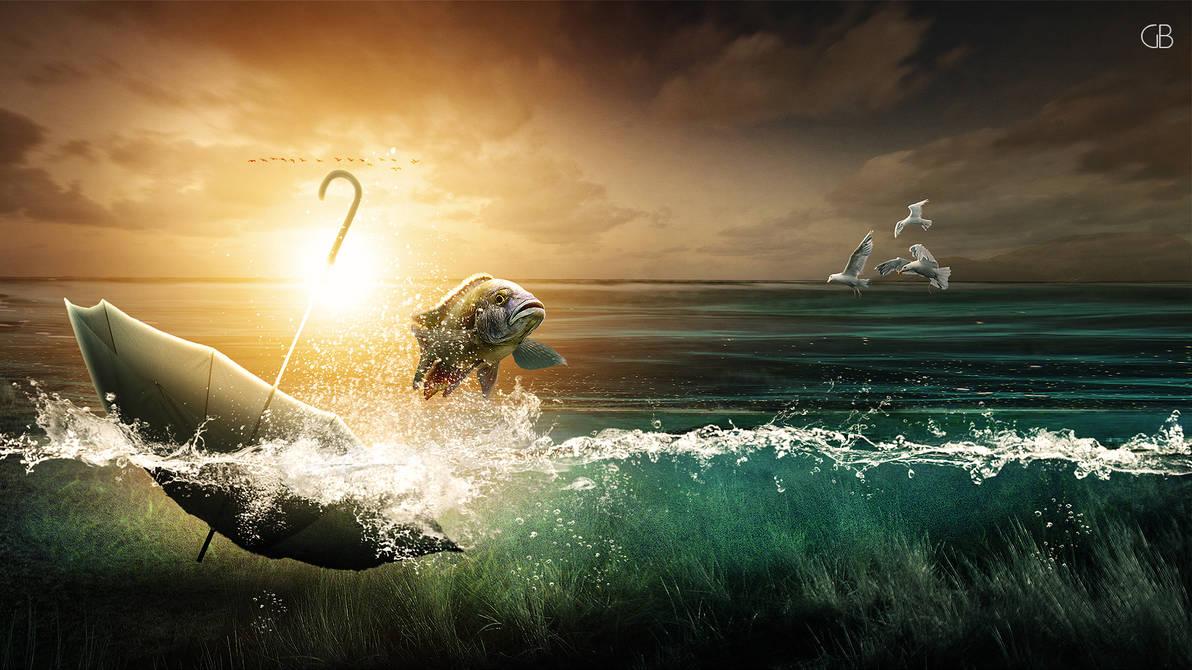 The Umbrella in the Sea