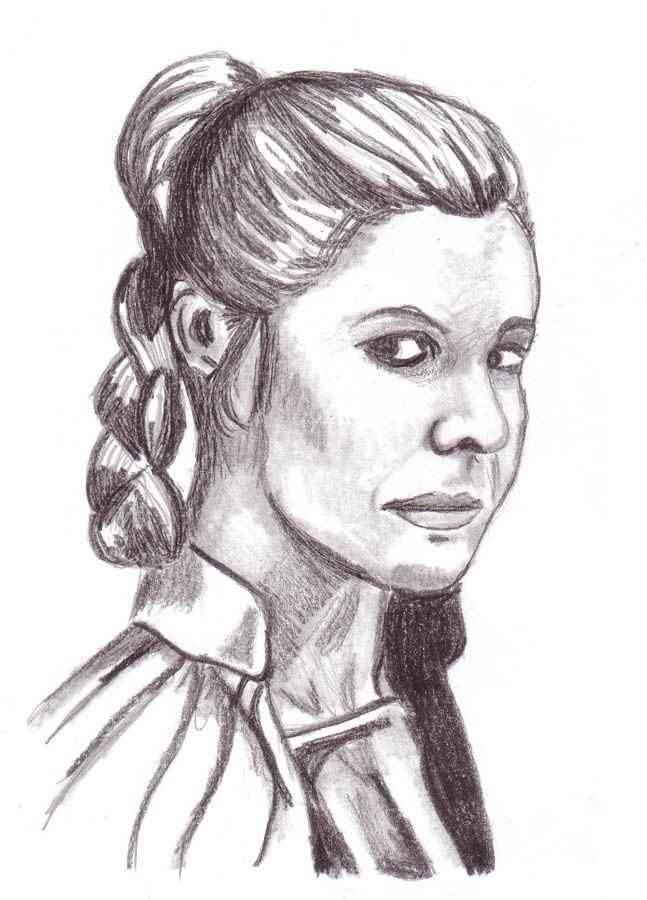 Princess Leia drawing by JediSeeker1
