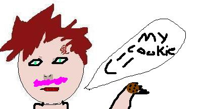 Gaara blushing from a cookie by Coloring-The-Anime2 on ... Gaara Blushing