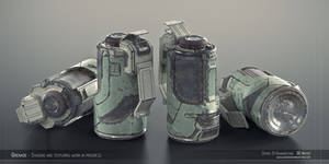 Sci-fi Grenade Shading WIP 1