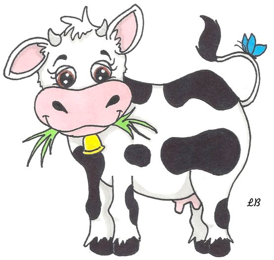 Cute Cow by zenafluff