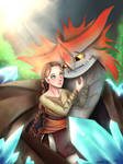 Valka and Cloudjumper by ArtisticHermit